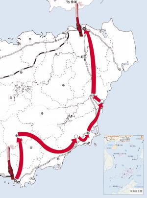 5月4日至6日琼岛传圣火 以三亚为起点,经五指山,兴隆,万城,博鳌,嘉积