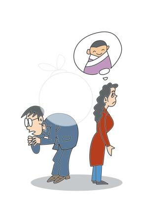 病人戴口罩 卡通