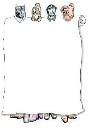 十二生肖绘图空白模板
