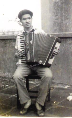 1980年在广东银行学校读书的蒙钟德.