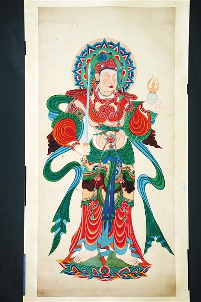 省博物馆举办的张大千临摹敦煌壁画作品展