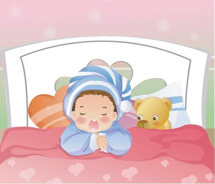 幼儿园男生女生睡觉卡通