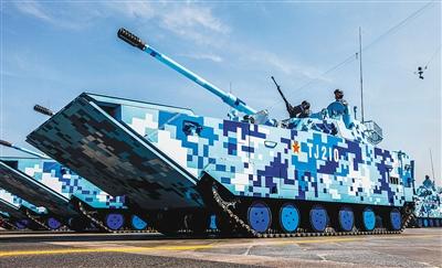 05a式两栖突击车是我国自行研制的新型海陆两栖突击装备.