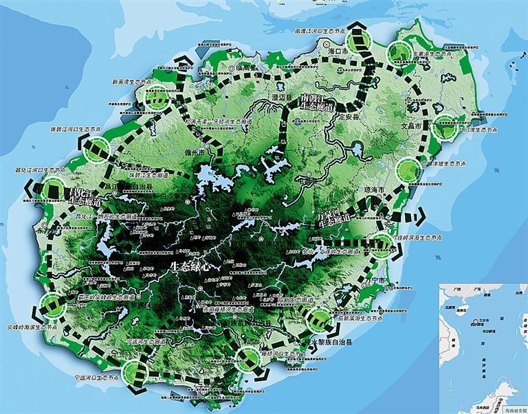 -->  一、目标愿景   战略目标:将生态与发展作为出发点和归属点,突出海南生态、经济特区、国际旅游岛三大优势,把握一带一路、消费时代、创新发展三大机遇,确定战略总目标为:2020年,全面建成小康社会,基本建成国际旅游岛。2030年,国际旅游岛发展成为中国特色社会主义的实践范例。   战略定位:本次规划战略定位可概括为:一点、两区、三地。一点即21世纪海上丝绸之路的战略支点;两区即全国生态文明建设示范区、全国改革创新试验区;三地即世界一流的海岛海洋休闲度假旅游目的地、国家