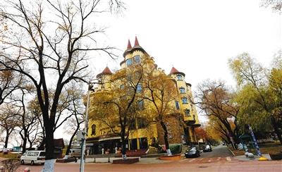 哈尔滨太阳岛风景区的俄罗斯风情小镇.
