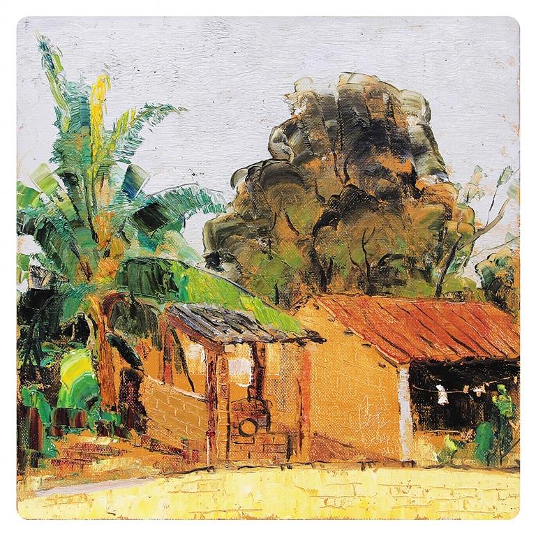 海南张立油画风景