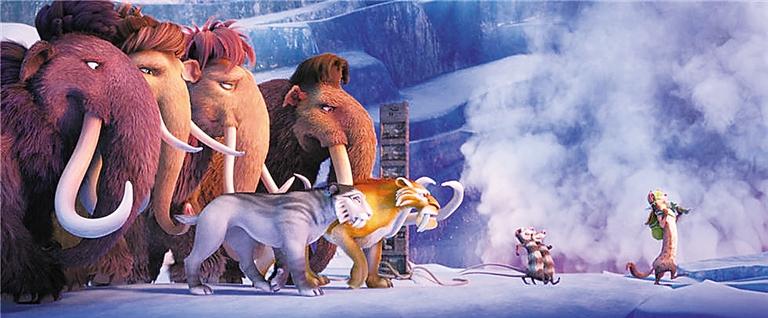 《冰川时代:星际碰撞》里的动物明星