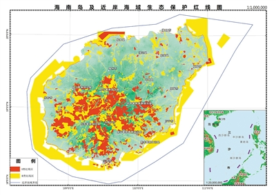 占海南岛近岸海域总面积35.1%