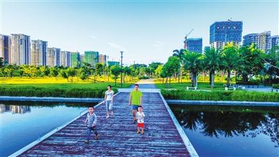 海口挺秀公园:西海岸休闲新去处