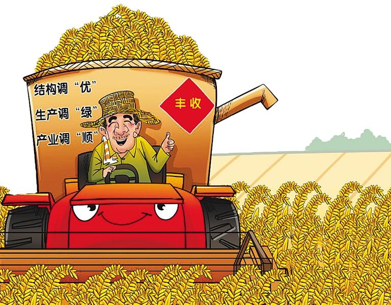 -->  金秋十月,又是一个丰收的好年景。在广袤的农村大地上,农机在轰鸣工作,辛勤的人们正忙着让颗粒归仓。   目前,全国秋粮收获已近七成。据农业部初步预计,在今年继续调整优化种植结构的背景下,粮食产量保持在12000亿斤以上。同时,粮食生产紧紧围绕农业供给侧结构性改革这一主线,绿色发展的导向更加清晰。   轮作休耕、化肥农药   减量增效   让粮食生产过程更绿   在吉林省松原市民乐村,今年整村实现玉米耕地秸秆还田保护性耕作,将玉米秸秆就地粉碎覆盖还田。这个村的党支部书记张志峰说:秸秆还田后水肥不流
