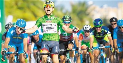 岛国际公路自行车赛29日结束了第二赛段的争夺,来自意大利威廉车队的