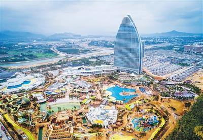 1月4日,三亚海棠湾亚特兰蒂斯酒店项目已近完工,将于春节期间试运