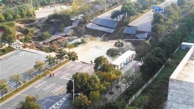 ...报数字报 广东佛山地铁施工路段发生地面塌陷事故图片 99568 400x225
