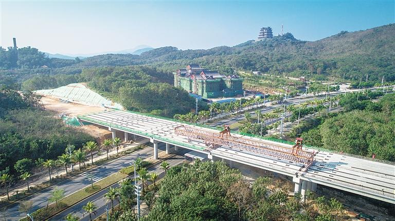 海南日报数字报-万洋高速儋州市区高架桥完工