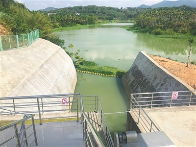 三亚市东部供水工程渠首枢纽部分.