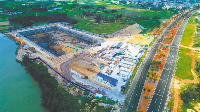 江东新区地埋式水质净化中心加快建设